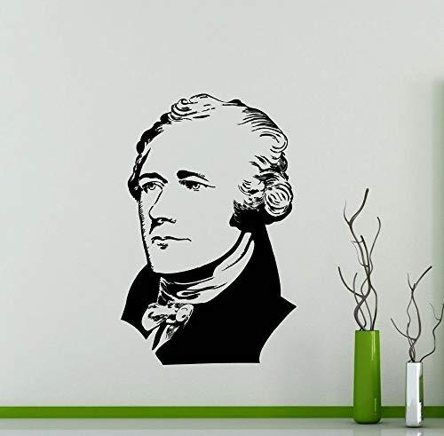 Alexander Hamilton Wandtattoo Vinyl Wandaufkleber Home Room Innendekoration Wohnzimmer Wasserdicht Hohe Qualität Wandbild 42x65 cm -