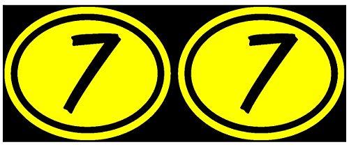 Samunshi® 2 x Startnummern Oval Aufkleber in 6 Größen und 25 Farben (15x12cm gelb)
