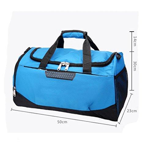 LAIDAYE Tragbare Unisex Sporttaschen Fitnesspaket Sporttasche Fitnesstasche Große Kapazität Handtasche 6