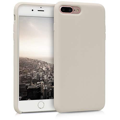 kwmobile Apple iPhone 7 Plus / 8 Plus Hülle - Handyhülle für Apple iPhone 7 Plus / 8 Plus - Handy Case in Creme