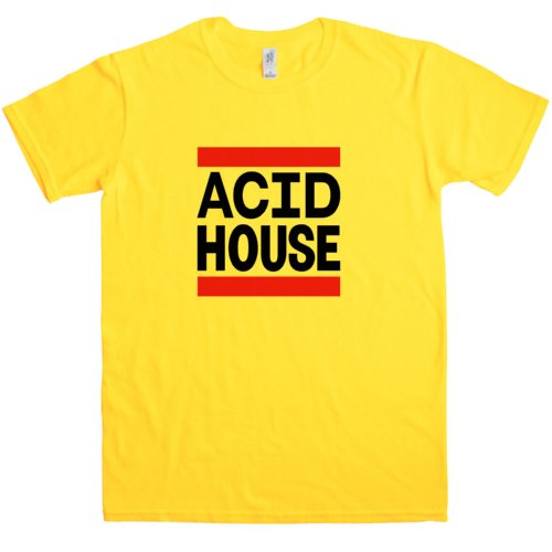 Men's Acid House Logo T Shirt in 4 Colours - S to XXL