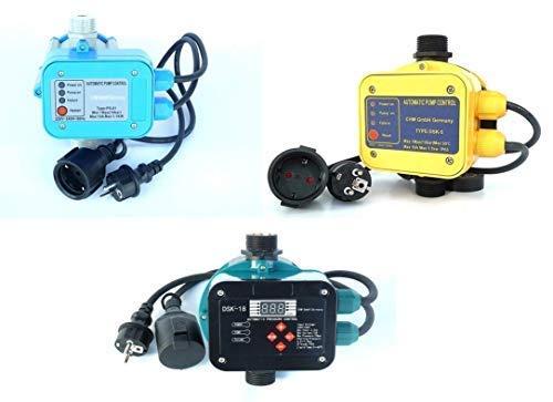 CHM Pumpensteuerungen in verschiedenen Ausführungen mit Trockenlaufschutz. Schaltleistung bis 2,2 kW. Geeignet für Gartenpumpen, Tiefbrunnenpumpen, Hauswasserwerke usw. (DSK-5)