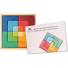 Puzzle cuadrado de madera de tilo con folleto, Grimms