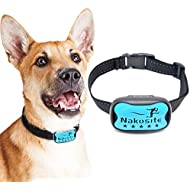Nakosite DOG2433 Absolutely Brilliant Best Anti Bark Dog Collar, Stop Dogs Barking control device, Aid collars that uses sound and vibration for small medium and large dogs. NO SHOCK Blue cover plate