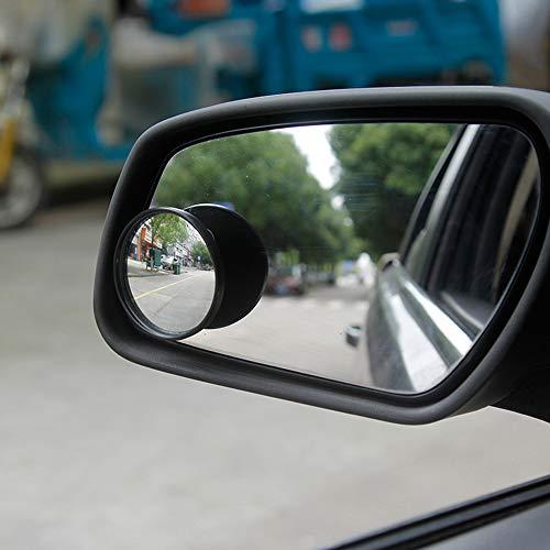FG-Car blind angle mirror Runder Totwinkelspiegel Wasserdichter HD-Glas-Rückspiegel mit konvexem Winkel 360-Grad-Drehung Selbstklebender Türspiegel für alle Autos
