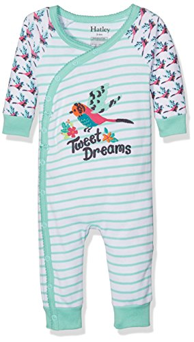 Hatley 100% Organic Cotton Baby Wrap Sleepsuit, Pigiama Bimbo, White