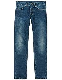 CARHARTT WIP - Jean - Homme - Jeans Tapered Fit Vicious Madera Bleu Naturel Foncé Délavé pour homme