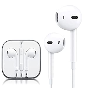 Stealkart Earphone Headphone Headset with Volume Controller and Mic for Apple iPhone 5s, 5, 6, 6s Plus SE & iPad Devices - White