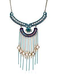 0bc08e56a90a YANGDJ Collar Collar Largo Y Borla Borla Mujer Bohemio Tribal Bohemio Collar  De Perlas De Cadena