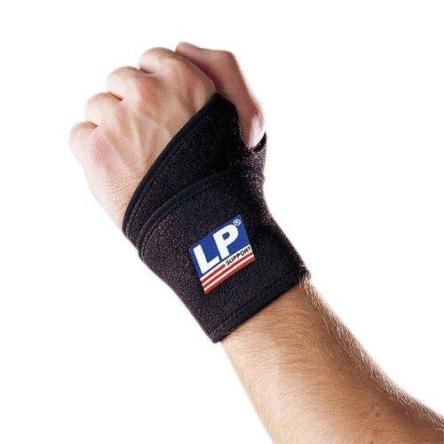 LP Support 739 Handgelenkstütze - Handgelenk-Bandage - Handgelenkschutz Sport - 1 Stück - schwarz, Farbe:schwarz, Größe:Universal - 1 Paar