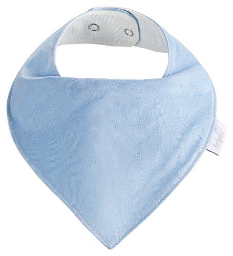 Baby-Lätzchen Set für Jungs 5 Stück, Dreieckstuch aus Baumwolle in den Farben Blau, Hellblau und Weiß,Wasserdicht - Halstuch - Spucktuch - Sabberlätzchen - 6