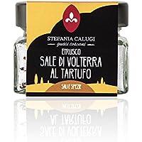 Schwarzes Sommer Trüffelsalz aus Volterra - 100% italienisches Trüffelgewürz (120g)