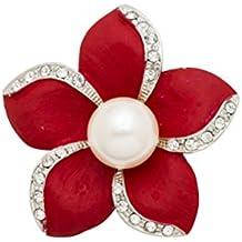 FENICAL Broche de Flores Elegante de Aleación Decoraciones de Ropas para Mujeres Niñas ...