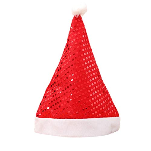 Klassische Kostüm Schmuck - Nowear Weihnachtsmann Glitzernde Pailletten Hüte Tuch Caps Stirn- Schmuck Christmas Party-Kostüm-Erwachsene