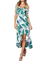 Lunaanco Vestidos de Mujer, vesitdo Verano Vestido Largo Jacaranda Colores Fiesta para Bodas Camisetas de