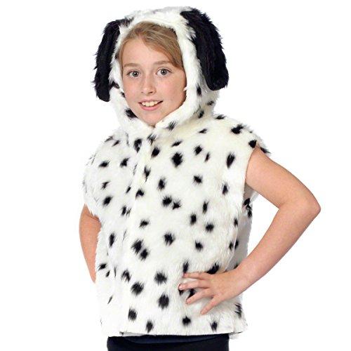 Dalmatiner Kostüm für Kinder- Einheitsgröße 3-9 (101 Dalmatiner Mädchen Kostüm)