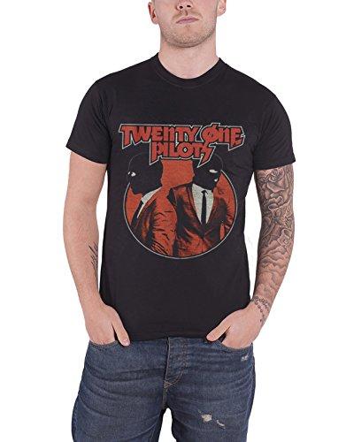 21 Twenty One Pilots T Shirt Incognito band logo nouveau officiel Homme Noir