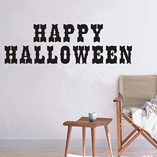 xlei Wandaufkleber Happy Halloween Wandaufkleber Für Kinderzimmer Dekorationen Vinly DIY Halloween Festival Party Home Aufkleber Wandbild Kunst Poster128X40 cm