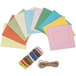 KODAK Cadres Photo carré pour des Photos en Format Papier 2 x 3 (Printomatic, Mini Shot, Mini 2) - Paquet de 12