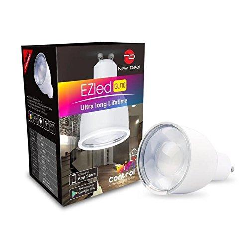 NEW DEAL Ampoule spot Led RGB GU10 connectée pour kit Wi-Fi EzLed-K9