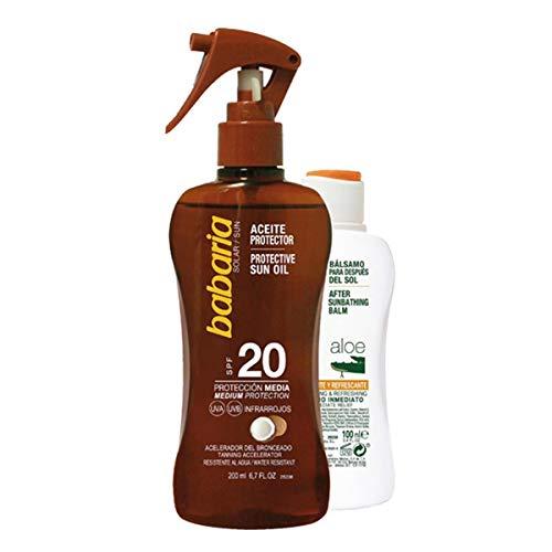Babaria - babaria sun protective sun oil spf20 spray 200ml set 2 parti 2018 - Heilende Feuchtigkeitsspendende Balsam