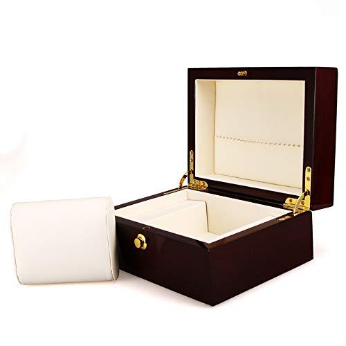 SHISHANG Uhrenbox,Premium Retro Holz Single Grid Uhr Display Box,Schmuckschatullen, Uhrenverpackungsbox, Aufbewahrungsbox für Herrenuhre Damen