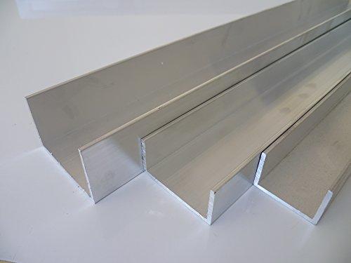 B&T Metall Aluminium U Profil 50 x 40 x 4 mm aus AlMgSi0,5 F22 schweissbar eloxierfähig Länge ca. 0,5 mtr. (500 mm +0/- 3 mm)