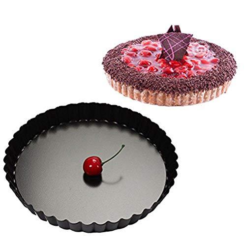 Tarteform,Quicheform 28cm,Nonstick Round Tart Torte Baking Pan,Obstkuchenform und Backform mit Entfernbarem Antihaftbeschichtung,Schwarz von Ayuboom Pie Dish