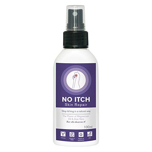Trockene Haut & Juckreiz effektiv lindern mit NO ITCH SKINREPAIR Spray | 100% BIO Aloe Vera & Magnesiumöl | Juckreiz Spray für Mensch und...
