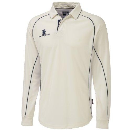 Surridge Herren Sport Polo Shirt Premier Langarm Weiß/Grün