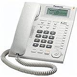 Panasonic KX-TS880 - Teléfono fijo con cable (LCD, Entrada Jack, marcación directa, altavoz, identificador de llamadas, reloj