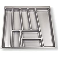 ORGA-Box II Besteckeinsatz für Nobilia 60er Schublade (462 x 505 mm Bitte MESSEN Sie Ihr SCHUBLADENINNENMAß!) Silbergrau