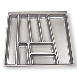 SO-TECH® Besteckeinsatz ORGA-Box II für Nobilia 60er Schublade (462 x 505 mm) Silbergrau