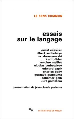 Essais sur le langage (Le sens commun) par Ernst Cassirer