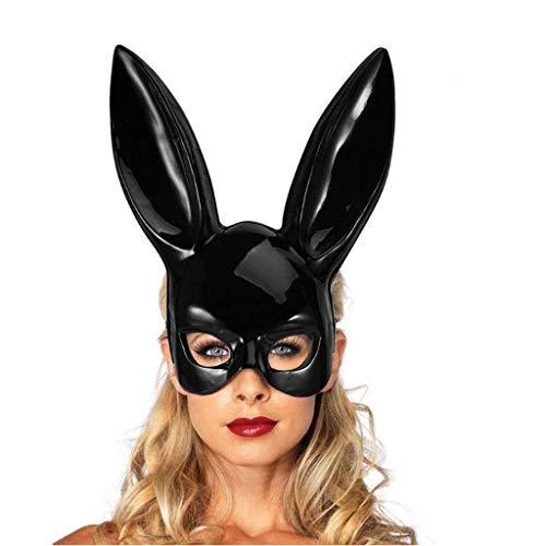 Halloween Maskerade Ball Party Cosplay Kostüm Party Kaninchen Ohren Maske Black Eye Damen Abendkleid Sexy Bunny Half Face konfrontiert lange Ohren Playboy Kaninchen Eyemask mit Ohren Bunny Maske für H