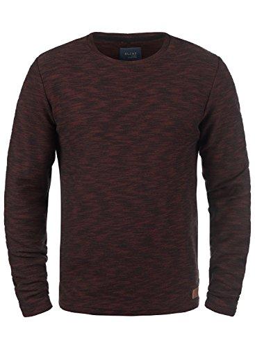 BLEND Caracas Herren Sweatshirt Pullover Sweater mit Rundhals-Ausschnitt aus hochwertiger Baumwollmischung Meliert Deep Red (73822)