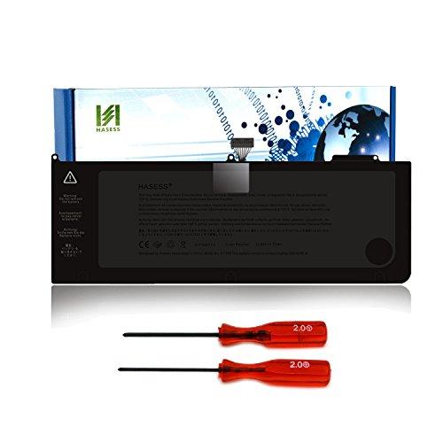 HASESS Neu 10.95V 7000mAh/77Wh Li-Polymer Batterie Notebook Akku für Apple Unibody MacBook Pro 15'' Zoll A1382 A1286 (nur für 2011-2012 Version) passt 661-5476 661-5211 MC721 MC723 MD103 MD104 MD318 MD322 mit Repair Set und 24 Monate Garantie