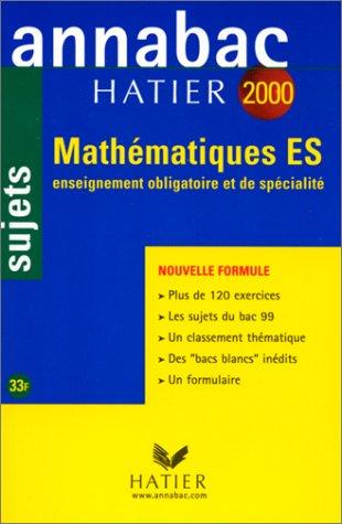 Annabac, sujets 2000 - mathématiques ES