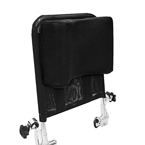 413NBV8OOzL - Juanya Almohada ajustable para reposacabezas de silla de ruedas con tubo de mango trasero, soporte para el cuello de 16 a 20 pulgadas, color negro