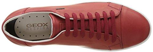 Geox - Uomo Rikin - Sneakers Basses - Homme Rouge (Redc7000)