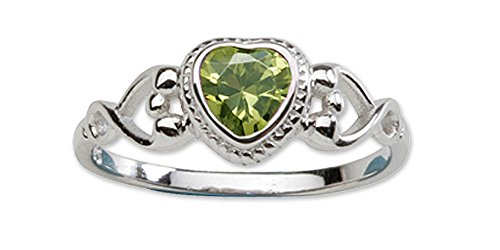 Precious Pieces  -    Sterling-Silber 925     Oxyde de Zirconium  (Silber Baby-sterling Peridot-ring)