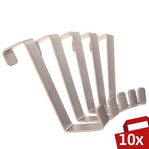 Austor 12 Piezas Ganchos Puerta Colgador Puerta Acero Inox para Oficina Cocina Gabinete Dibujar Ropa