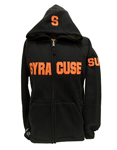 Donegal Bay NCAA Syracuse Orange Sherpa/Waffle Hoodie, unisex, schwarz