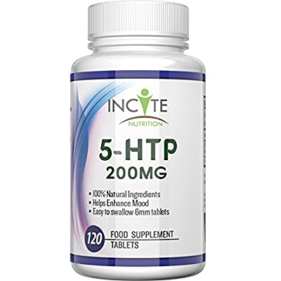 5-HTP 200mg High Strength 120 Capsules 4 Months Supply - UK MANUFACTURED - 100% Natural - 5HTP Serotonin Booster and Mood Enhancer - Vitamin Supplement - Health Benefits Include Weight Loss, Improves Sleep & Helps with Anxiety - Best Double Strength Pure