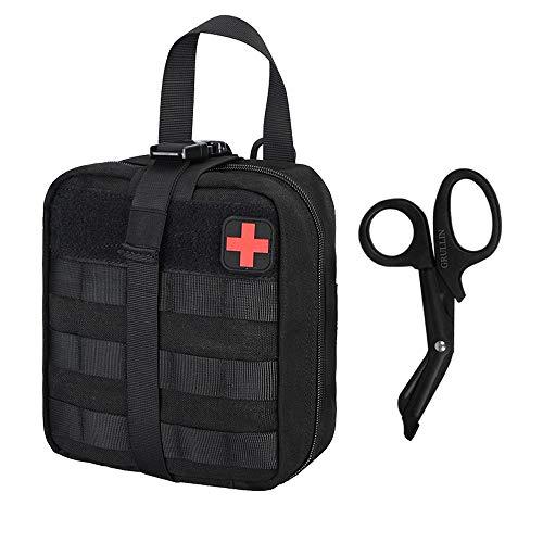 GRULLIN Taktischer Molle Erste Hilfe Tasche Leer Rip Away IFAK EMT Medizinische Pouch Klein Tasche für Reisen Camping Wandern Outdoor