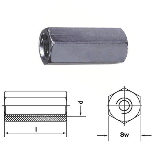 Verbindungsmutter (Distanzmuttern) Sechskant M12 · M14 · M16 · M20