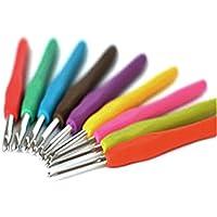 2016 Nueva 9Pcs gancho metálico mixto Kit Plantilla de ganchillo TPR aluminio agujas de tejer para Loom de herramientas de bricolaje Band manualidades