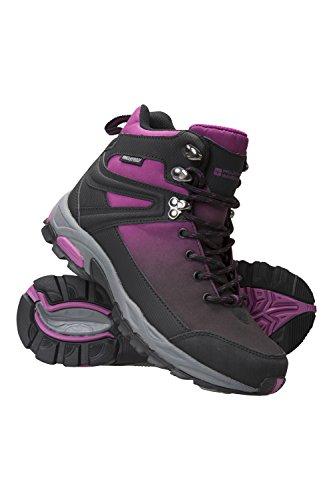 Mountain Warehouse Retrieve Wasserfeste Softshellstiefel für Damen - Leichte Wanderstiefel, atmungsaktiv, Damenwanderschuhe, Schuhe, Netzfutter - Schuhe für Reisen Schwarz 38 EU