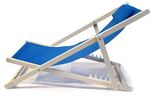 osoltus Strandliege Relaxliege Adria Aluminium weiss / blau rostfrei