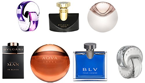 Bvlgari the iconic miniature collection confezione regalo 7 x 5ml - omnia amethyste edt + jasmin noir edp + aqva divina edt + man in black edp + aqva amar edt + blv pour homme edt + omnia crystalline edt